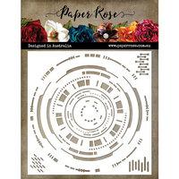 Paper Rose - 6 x 6 Stencil - Hud