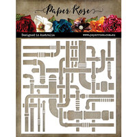 Paper Rose - 6 x 6 Stencil - Pipes