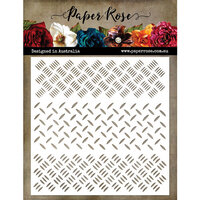 Paper Rose - 6 x 6 Stencil - Checker Plate