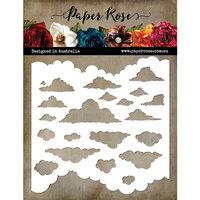 Paper Rose - 6 x 6 Stencil - Cloud
