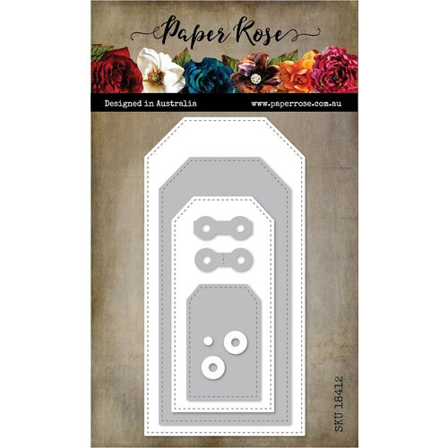 Paper Rose - Dies - Stitched Tags