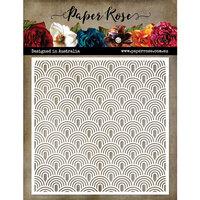 Paper Rose - 6 x 6 Stencil - Waves