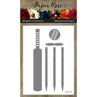 Paper Rose - Dies - Cricket Bat and Stumps