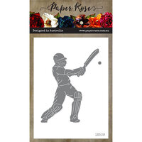 Paper Rose - Dies - Cricket Player with Bat and Ball