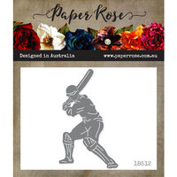 Paper Rose - Dies - Cricket Player with Bat - Large
