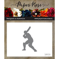 Paper Rose - Dies - Cricket Player with Bat - Small