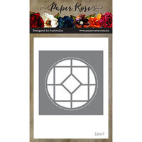 Paper Rose - Dies - Stained Glass Window