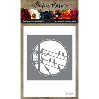 Paper Rose - Dies - Birds on Powerline Circle