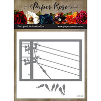 Paper Rose - Dies - Birds on Powerline Rectangle Frame