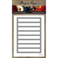 Paper Rose - Dies - Striped Coverplate Pierced