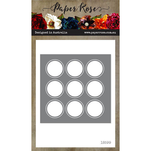 Paper Rose - Dies - Circle Grid Cover Plate