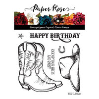 Paper Rose - Clear Photopolymer Stamps - Kick Your Heels Up