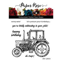 Paper Rose - Clear Photopolymer Stamps - Vintage Tractor