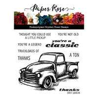 Paper Rose - Clear Photopolymer Stamps - Vintage Truck