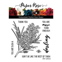 Paper Rose - Clear Photopolymer Stamps - Darling Grevillea