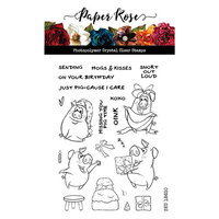 Paper Rose - Clear Photopolymer Stamps - Hogs and Kisses