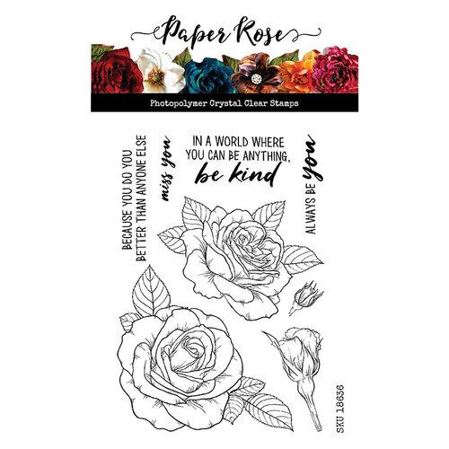 Paper Rose Sketchy Roses Stamp