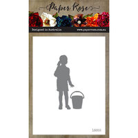 Paper Rose - Dies - Girl with Bucket Silhouette