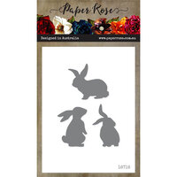 Paper Rose - Dies - Bunnies - Small