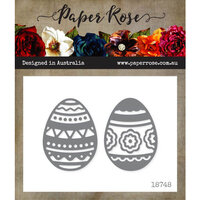 Paper Rose - Dies - Easter Eggs Decorative - Large