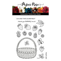 Paper Rose - Clear Photopolymer Stamps - Berry Basket