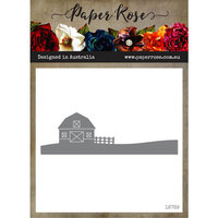 Paper Rose - Dies - Farm Border 2 - Barn