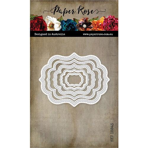 Paper Rose - Dies - Nesting Label 1