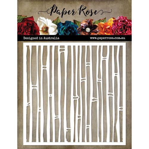 Paper Rose - 6 x 6 Stencil - Bamboo