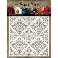 Paper Rose - 6 x 6 Stencil - Damask