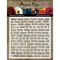 Paper Rose - 6 x 6 Stencil - Distressed Brick