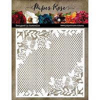 Paper Rose - 6 x 6 Stencil - Floral Mesh