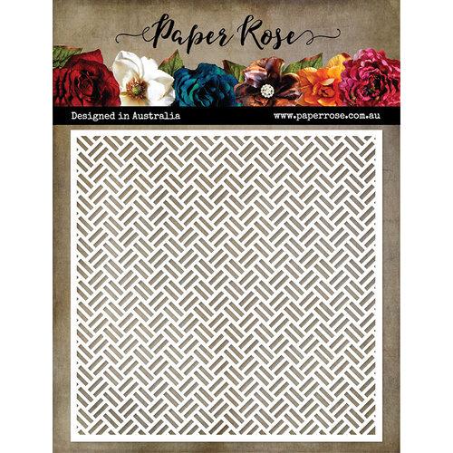 Paper Rose - 6 x 6 Stencil - Weave