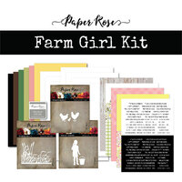 Paper Rose - Card Making Kit - Farm Girl