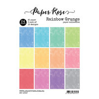 Paper Rose - A5 Paper Pack - Rainbow Grunge