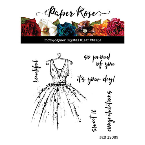 Paper Rose It's your day stamp