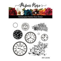 Paper Rose - Clear Photopolymer Stamps - Clocks