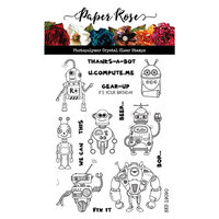 Paper Rose - Clear Photopolymer Stamps - Robot Friends