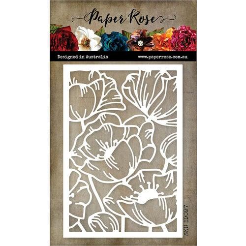 Paper Rose - Dies - Poppy Decorative Background