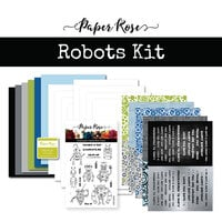 Paper Rose - Card Making Kit - Robot