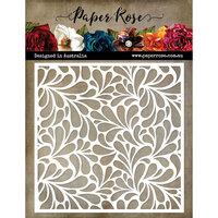 Paper Rose - 6 x 6 Stencil - Big Drops