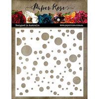 Paper Rose - 6 x 6 Stencil - Bubbles