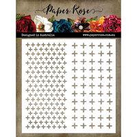 Paper Rose - 6 x 6 Stencil - Crosses