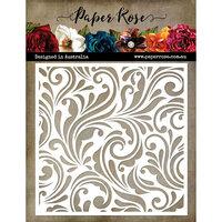Paper Rose - 6 x 6 Stencil - Flourish