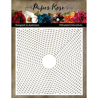 Paper Rose - 6 x 6 Stencil - Industrial Circles