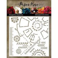 Paper Rose - 6 x 6 Stencil - Industrial Elements