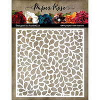 Paper Rose - 6 x 6 Stencil - Small Drops