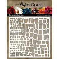 Paper Rose - 6 x 6 Stencil - Snake Texture