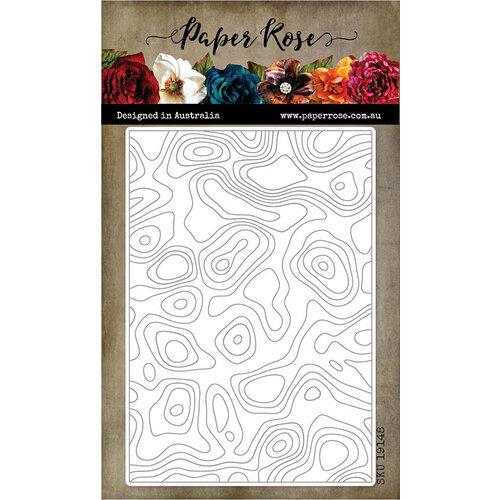 Paper Rose Topographic die