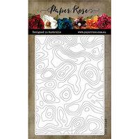 Paper Rose - Dies - Topographic Background