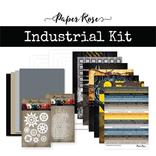 Paper Rose - Card Making Kit - Industrial